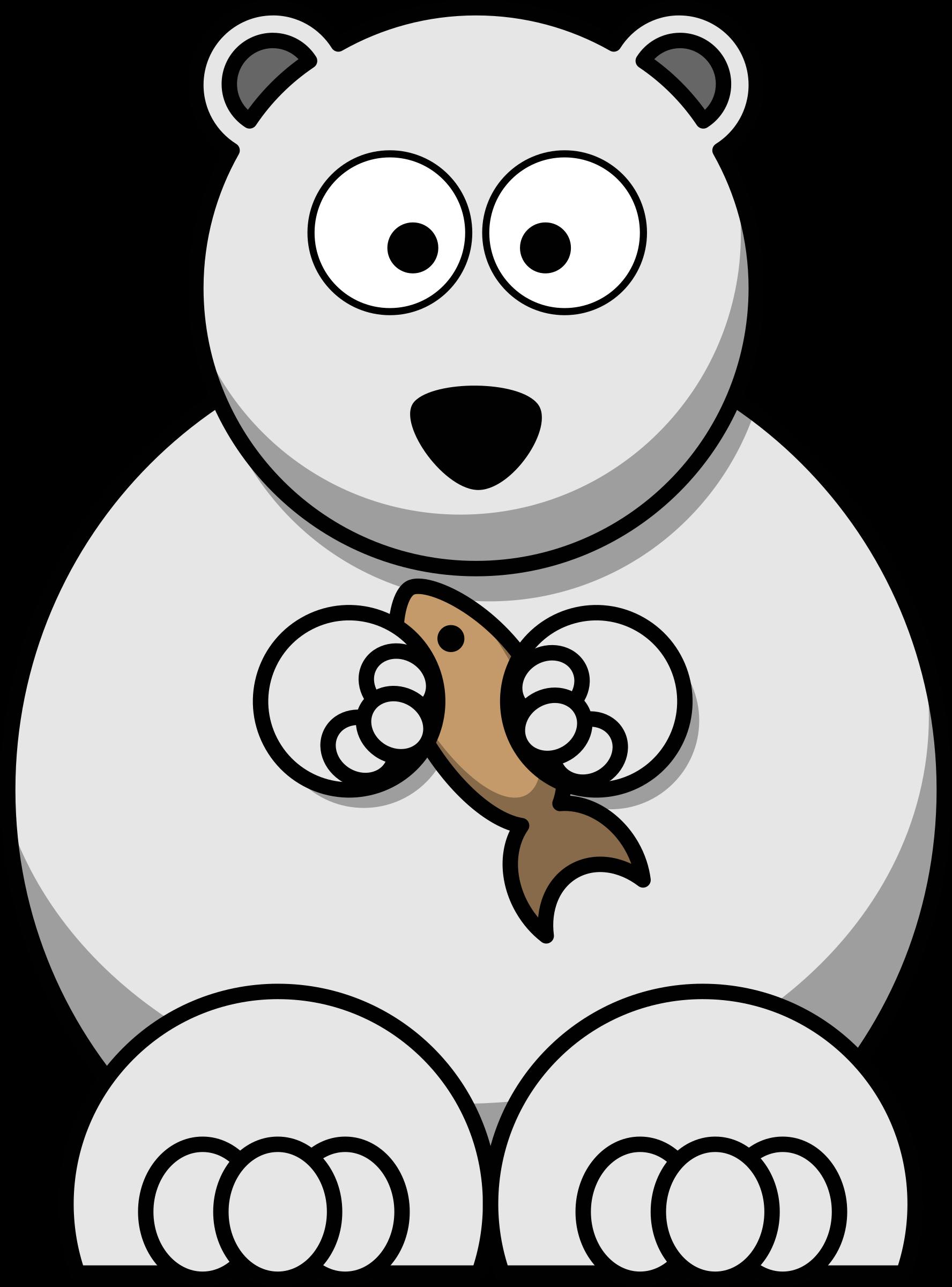 library Polar clipart. Cartoon bear big image.