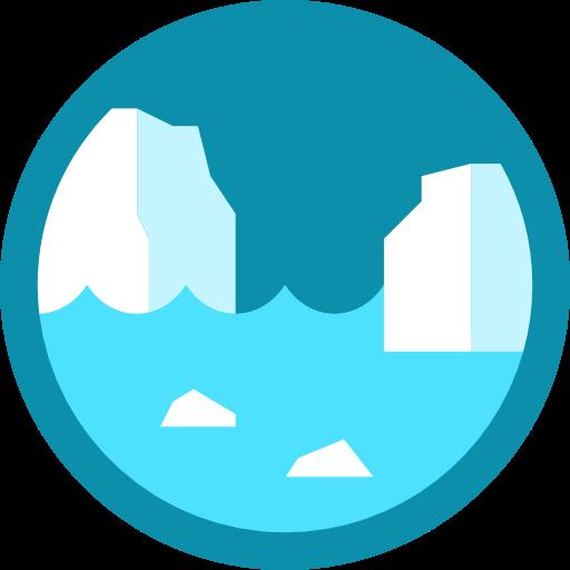library Polar clipart glacier. Nature north pole icon
