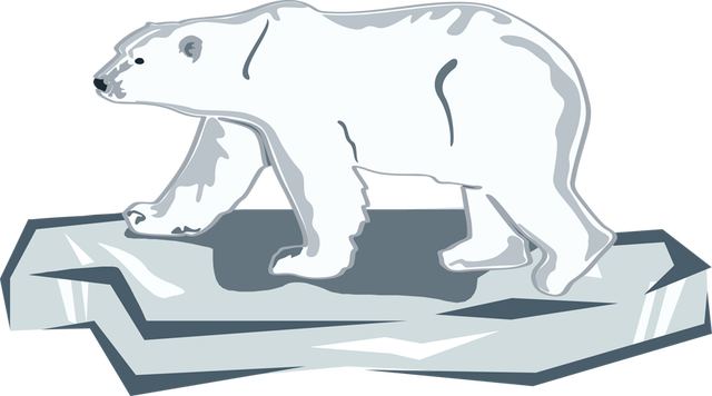 jpg freeuse library Polar bear on ice clipart. Celebrate a day for