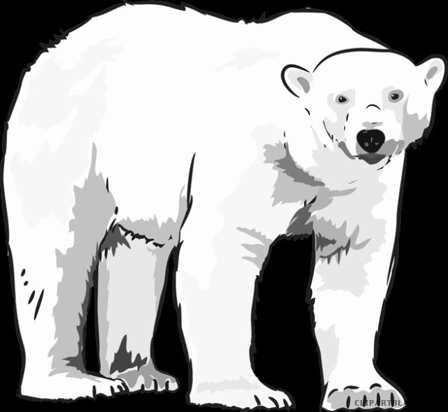 clip art stock Polar clipart. Bear polor free on.