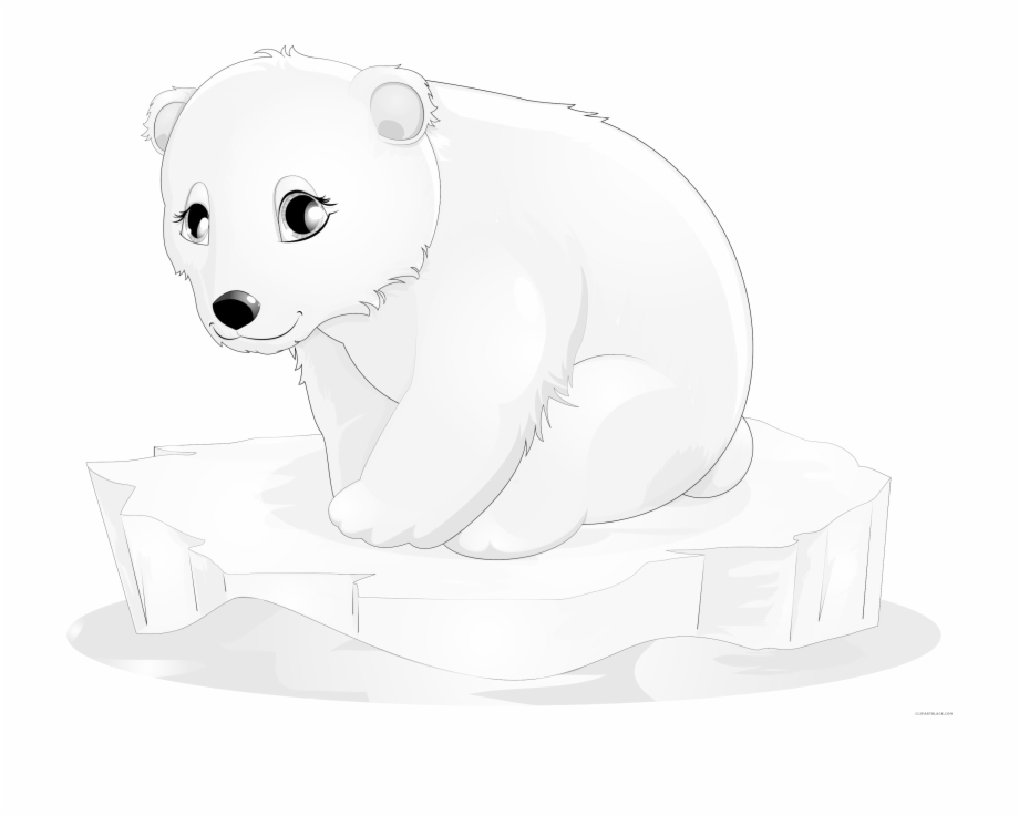 clipart black and white download Baby polar bear clipart. Illustration pngtube