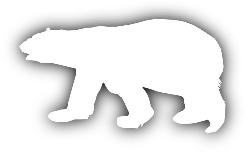 clip royalty free download Polar bear black and white clipart. Silhouette at getdrawings com
