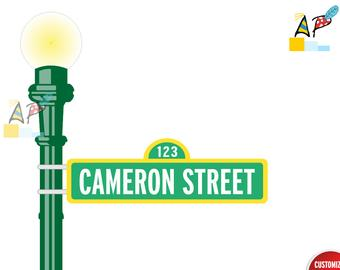 vector royalty free stock Lamp post etsy . Pole clipart sesame street