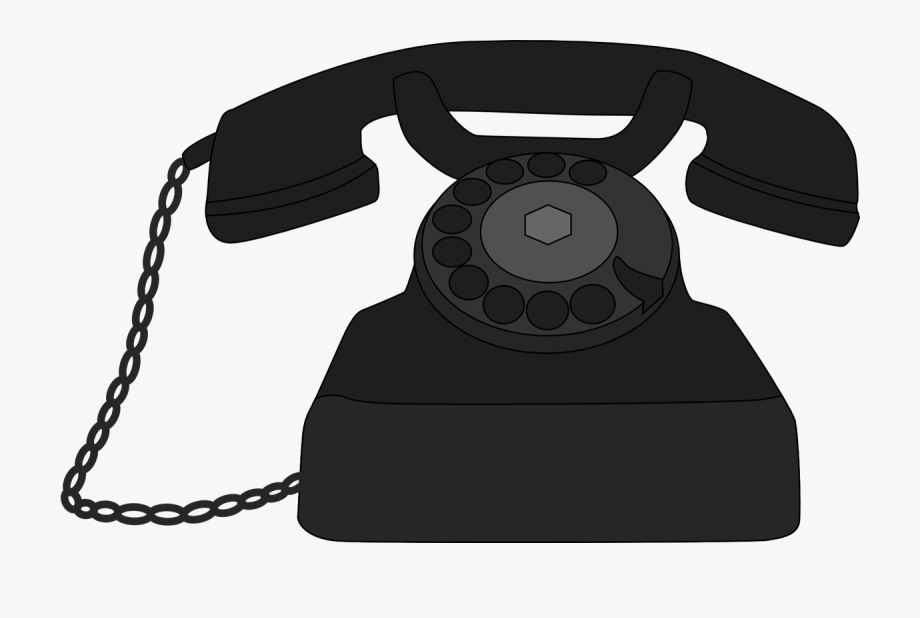 banner black and white library Phone transparent . Pole clipart vintage telephone