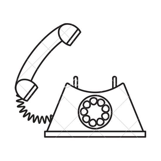 clip art library Line drawing at getdrawings. Pole clipart vintage telephone