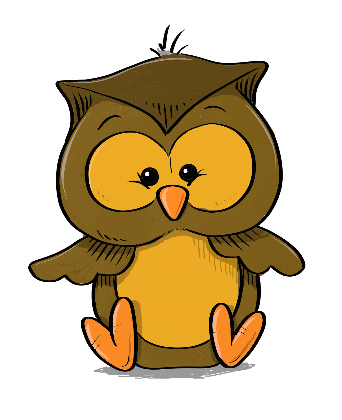 vector black and white library Drawing owls colourful. Pto a akc png