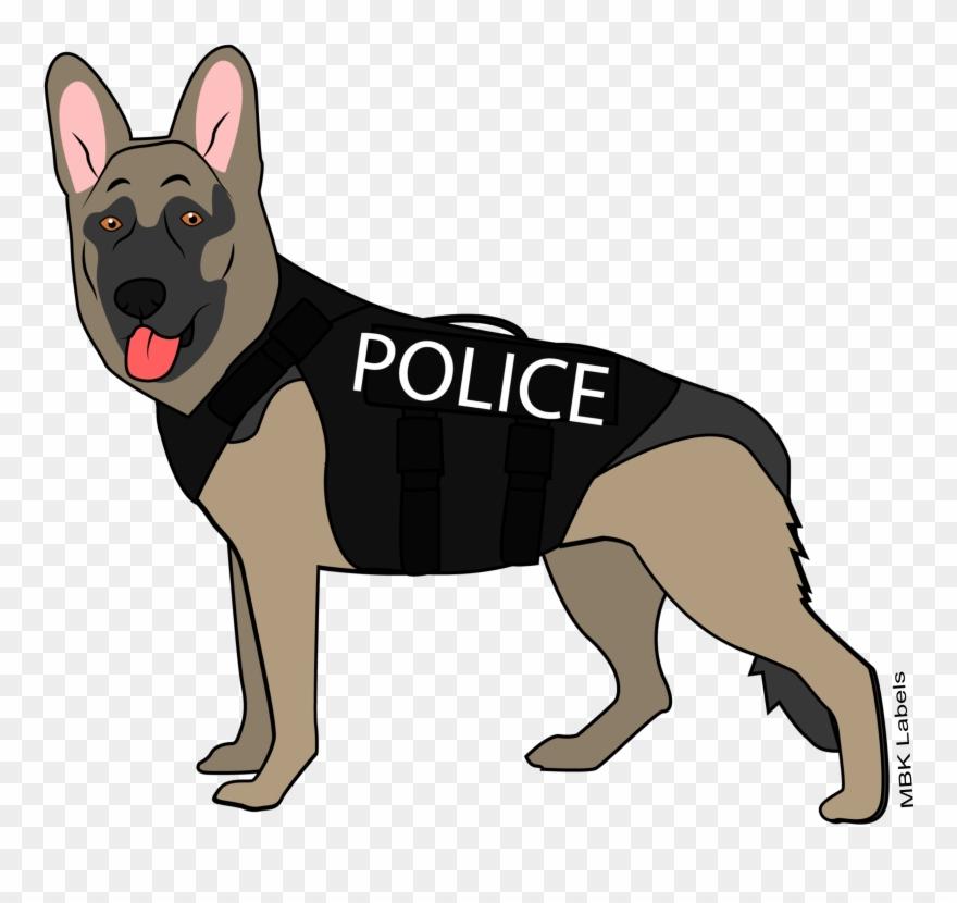 jpg free K old german shepherd. Police dog clipart