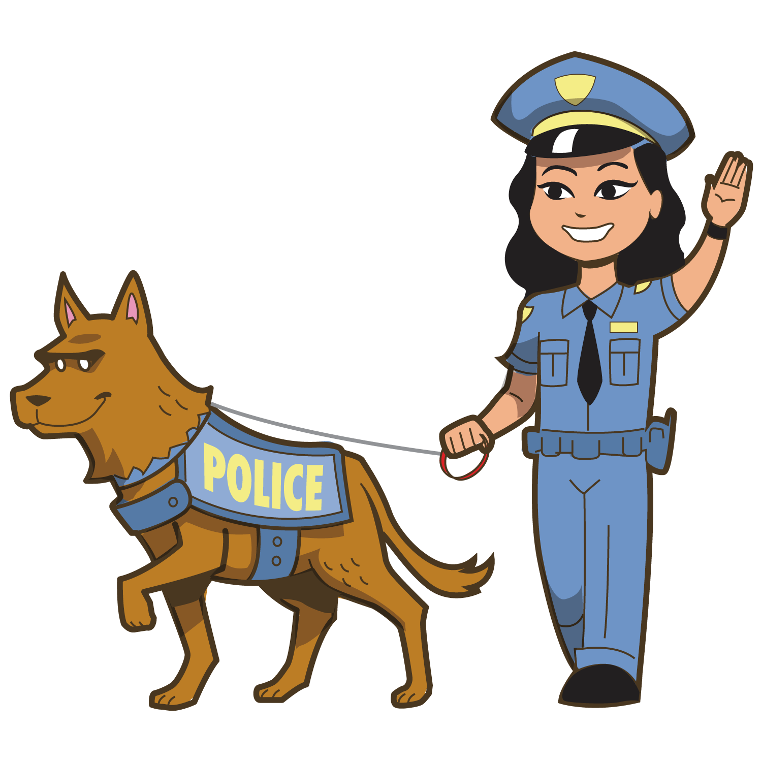 banner library download Police dog clipart. Officer royalty free clip