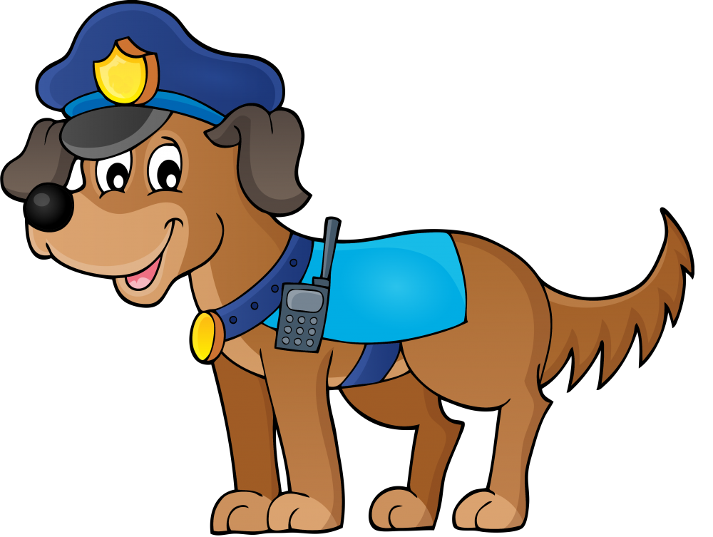vector library library Clip art png download. Police dog clipart
