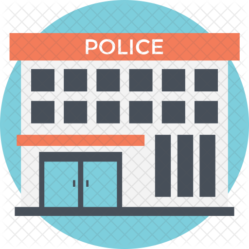 jpg free Icon real estate building. Supermarket clipart police post