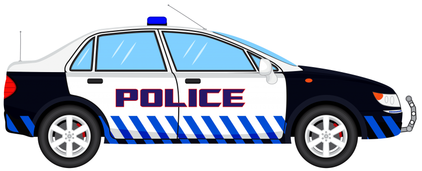 jpg black and white download police car png
