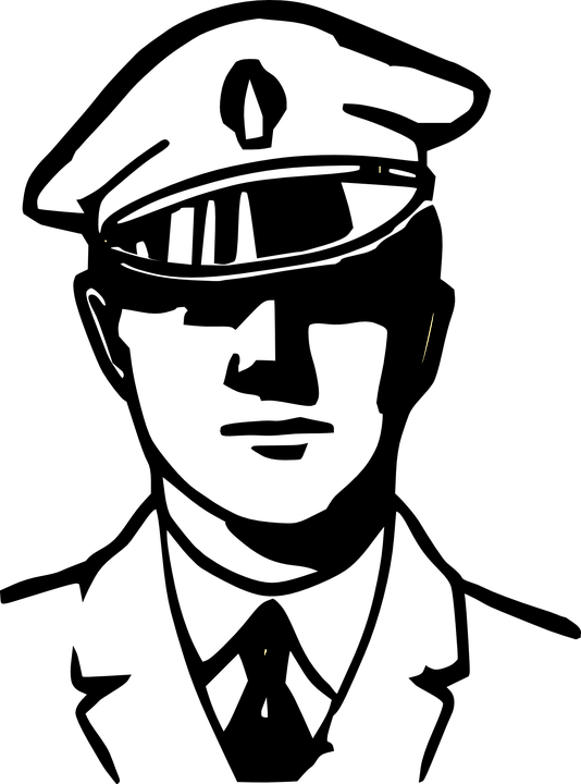 image black and white Policeman Clipart PNG