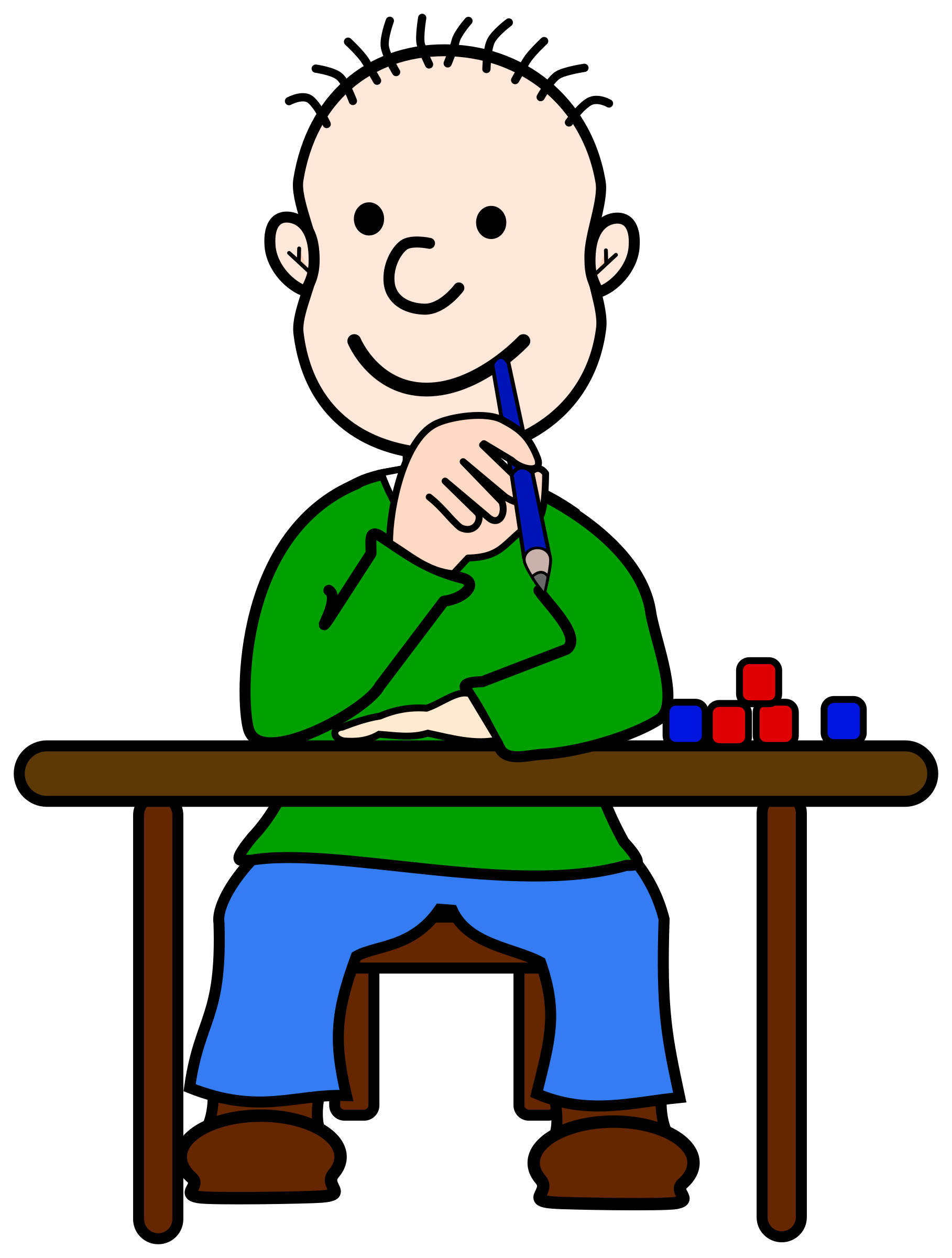 royalty free library Comic Boy Oli at School by