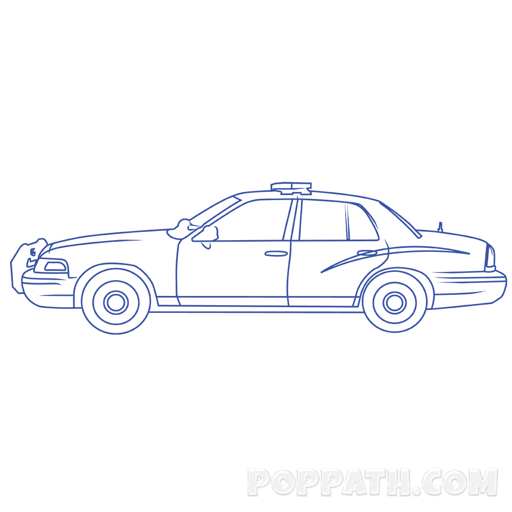 picture transparent Police Car Drawing at GetDrawings