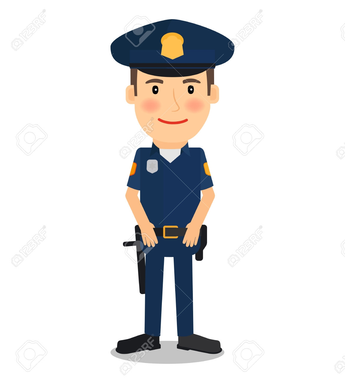 clip art black and white stock Unique policeman gallery digital. Cop clipart.