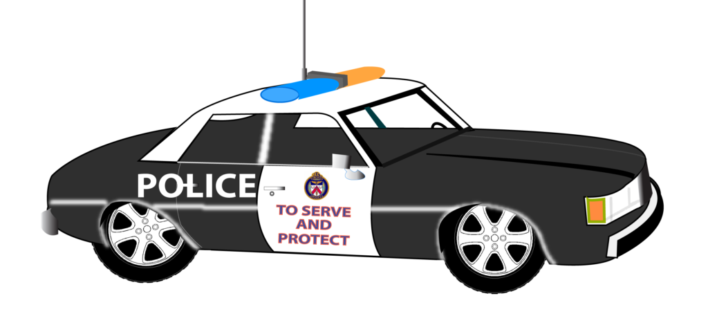 banner black and white stock Uk police car clip free library