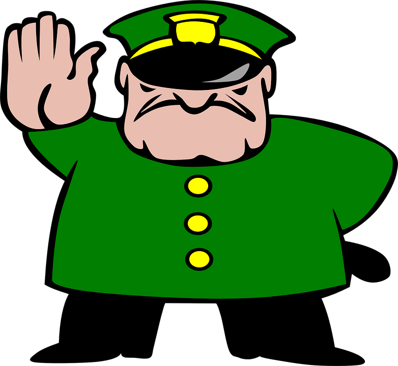 vector transparent Policeman cliparts of library. Supermarket clipart shop keeper.