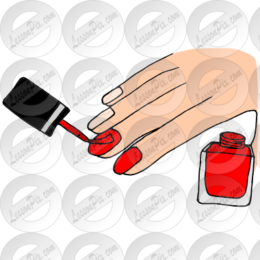 graphic freeuse Paint nails picture for. Polish clipart classroom