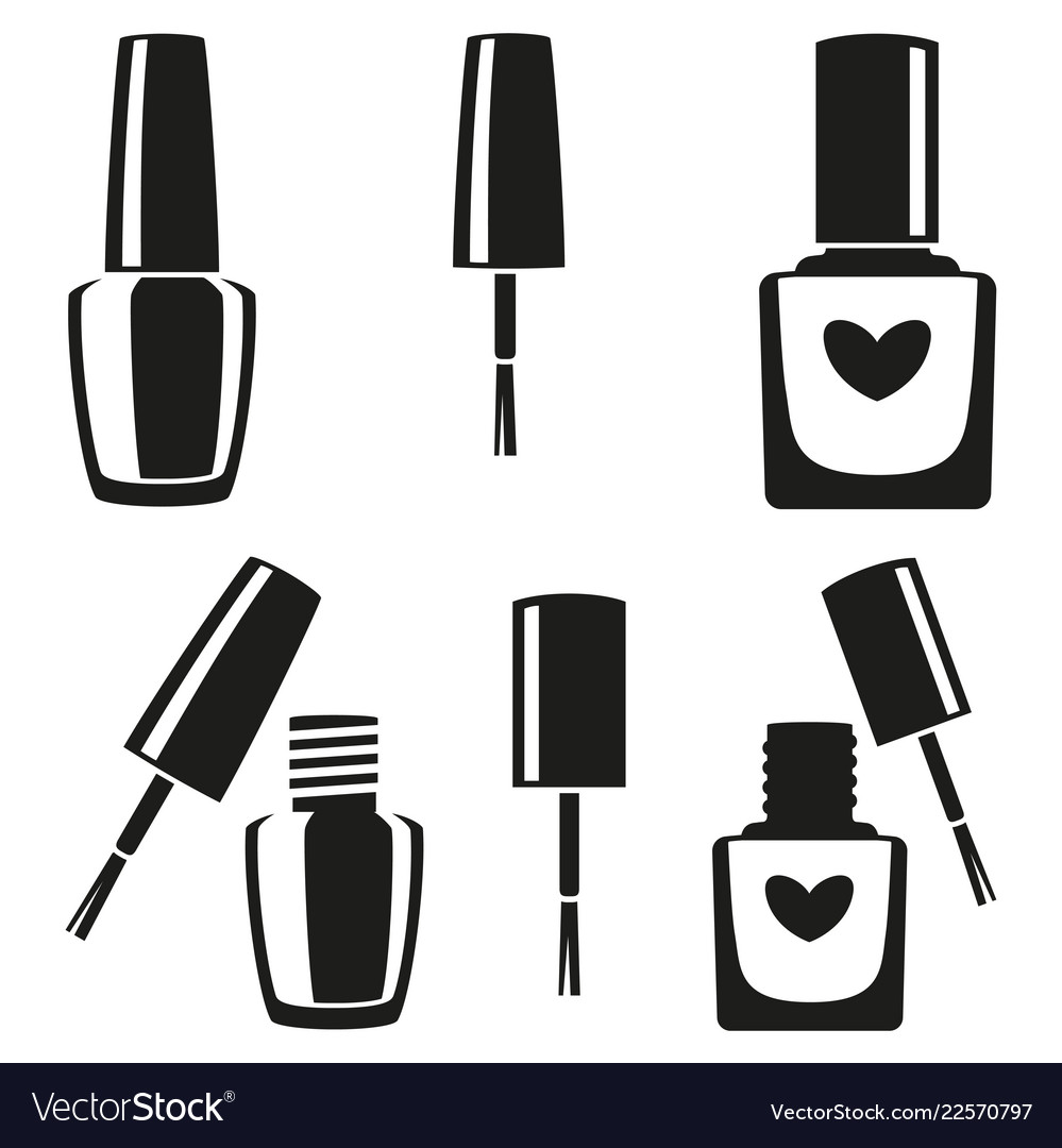 jpg freeuse download Polish clipart outline. Nail x free clip.