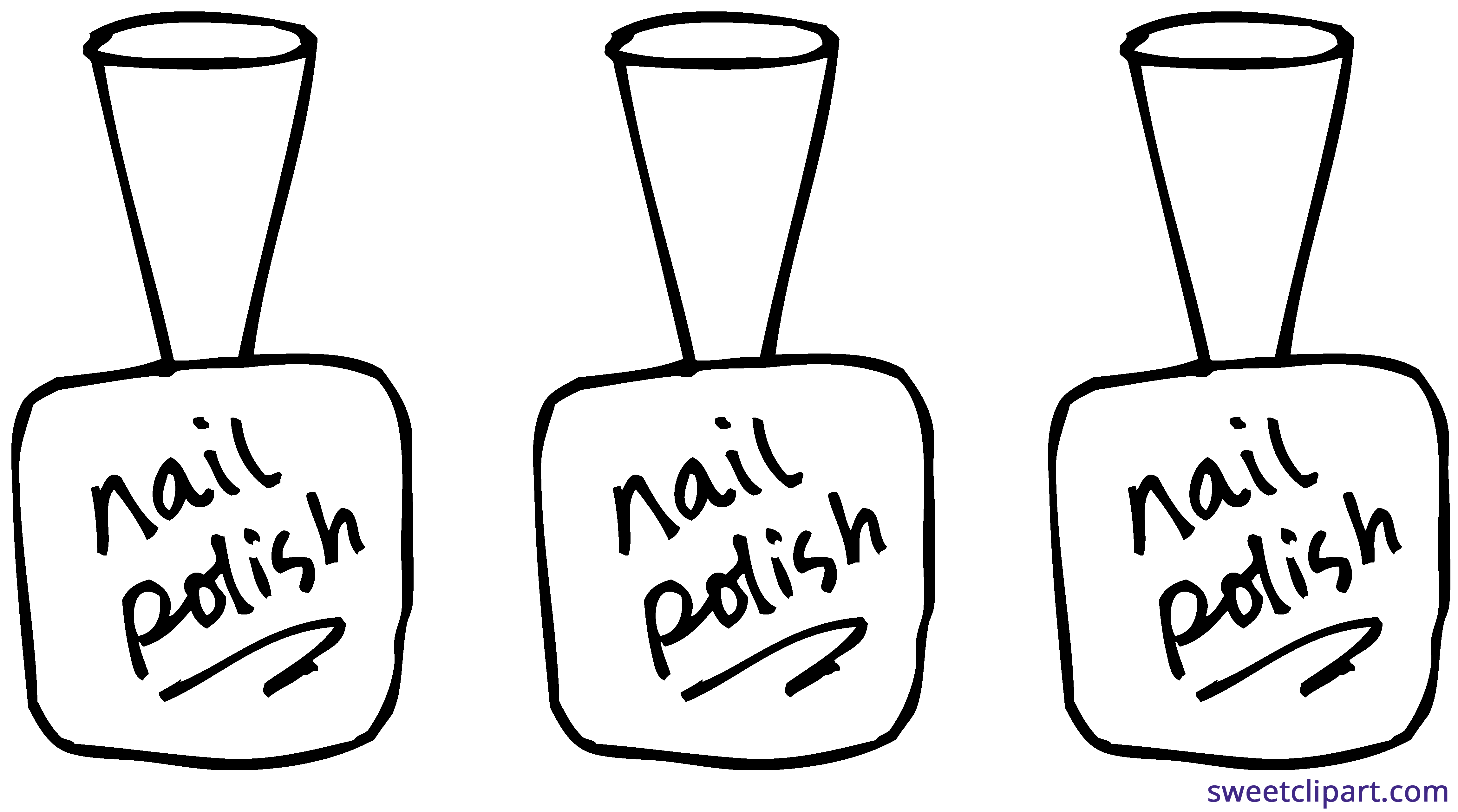 banner freeuse Nail Polish Line Art Clipart