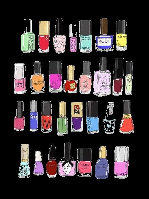 vector royalty free download Cute Nail Polish Transparent