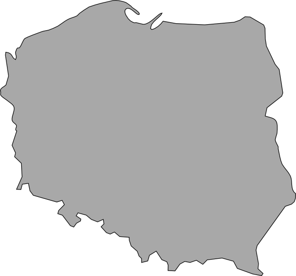 vector black and white stock Map Of Poland Clip Art at Clker