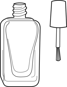 graphic black and white Nail polish clip art. Vector bottle black and white