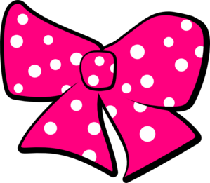 vector royalty free stock Polka clipart. Bow with dots clip.