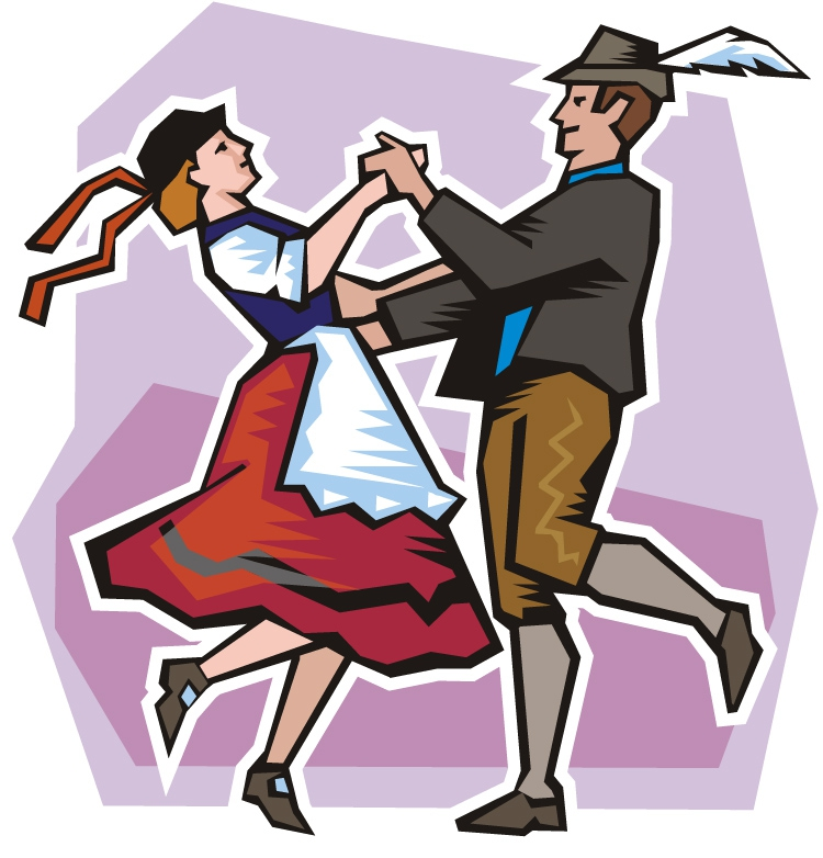 image stock German dance clip art. Polka clipart.