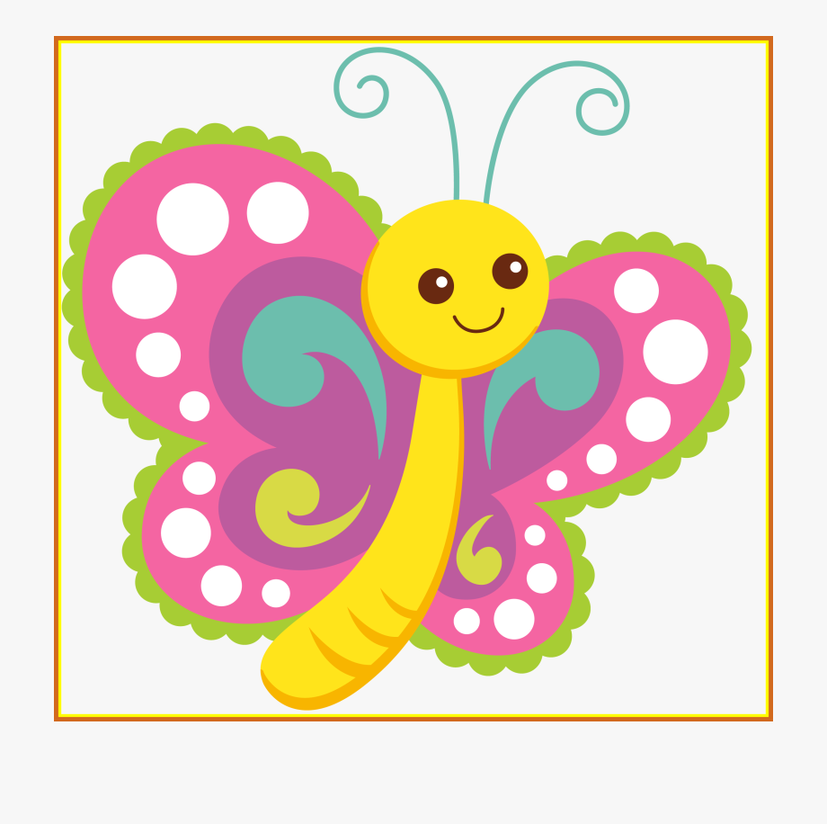 graphic free stock Polka clipart. Kids butterfly dot baby.