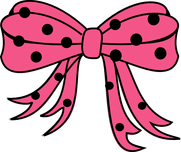 banner royalty free download Polka clipart. Dots bow black hot.