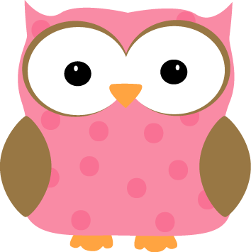 svg freeuse download Pink Polka Dot Owl Clip Art