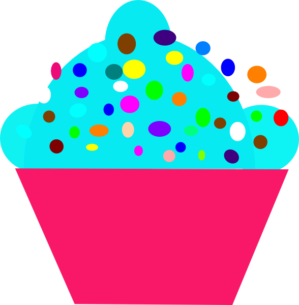 jpg royalty free Dot cupcake clip art. Polka clipart.