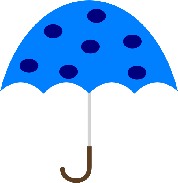 svg free Polka Dot Umbrella Clip Art at Clker
