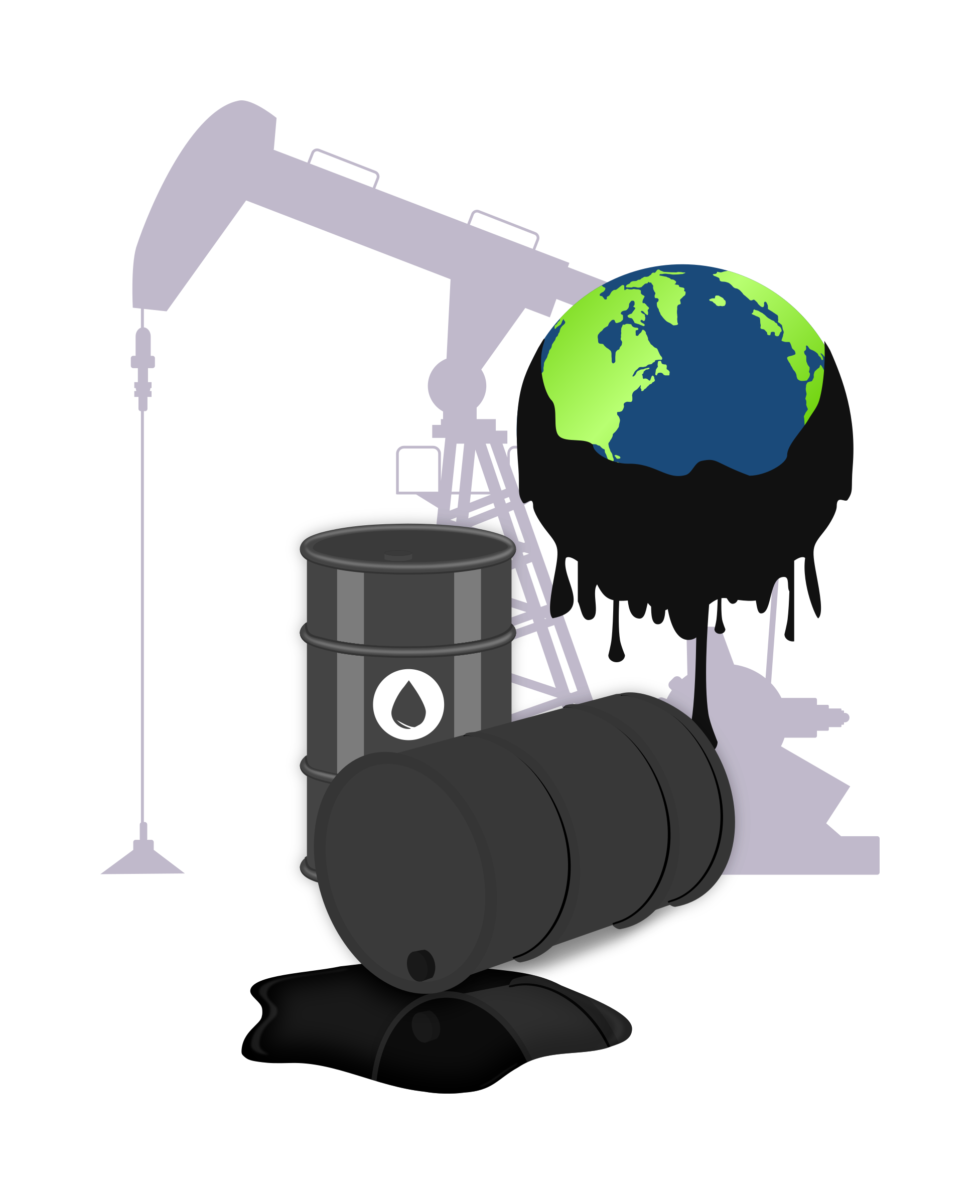 clipart black and white library Oil big image png. Pollution clipart