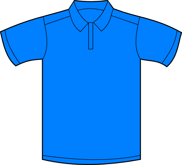 banner freeuse download Polo Shirt Blue Front Clip Art at Clker