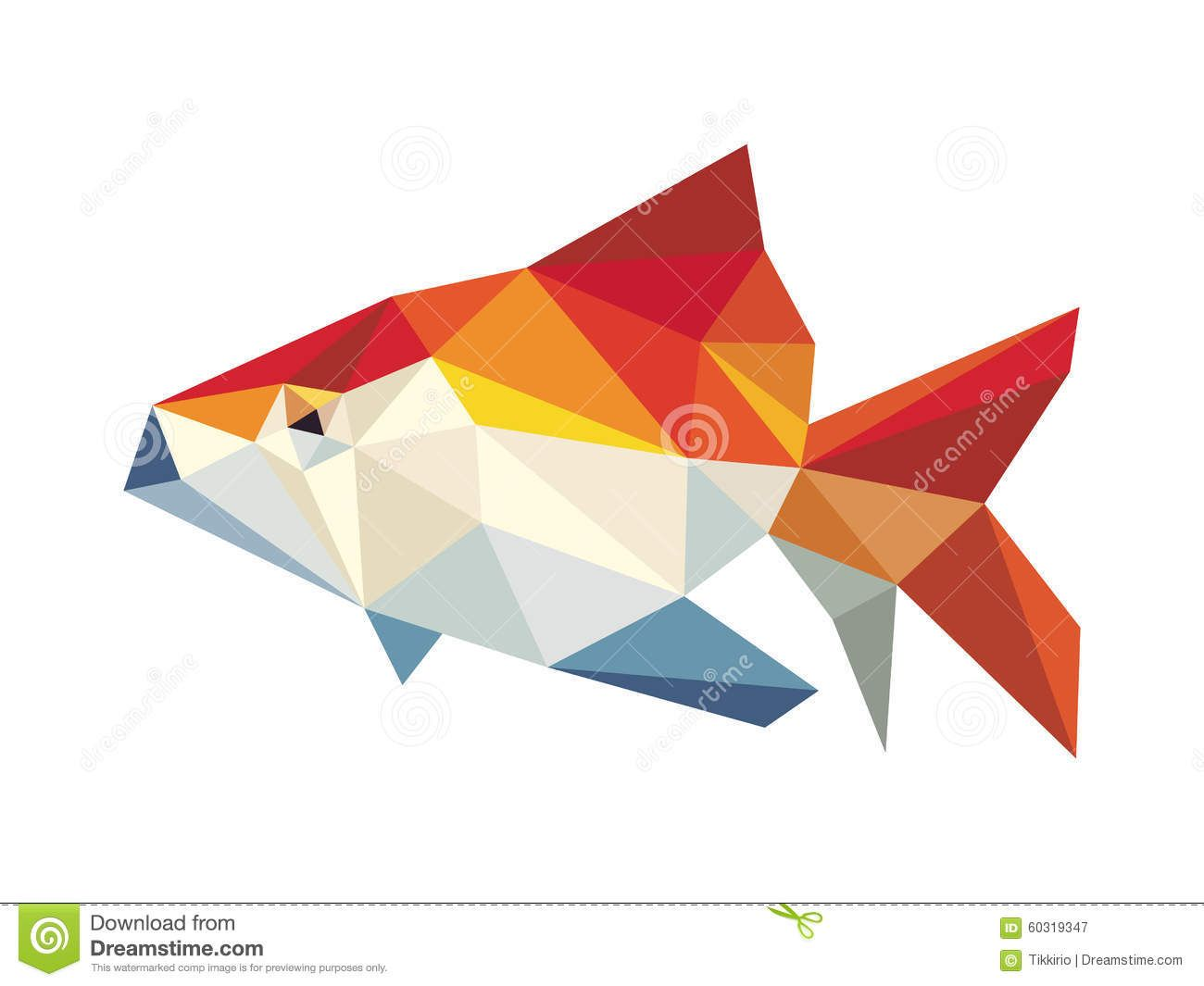 clip art royalty free download Golden fish low stock. Polygon vector.