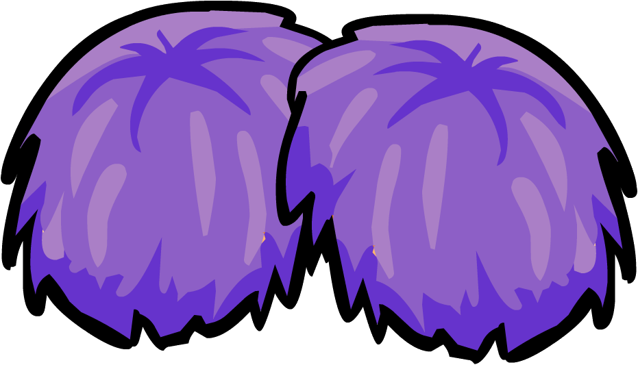 clipart freeuse library Purple Pom Poms Clipart
