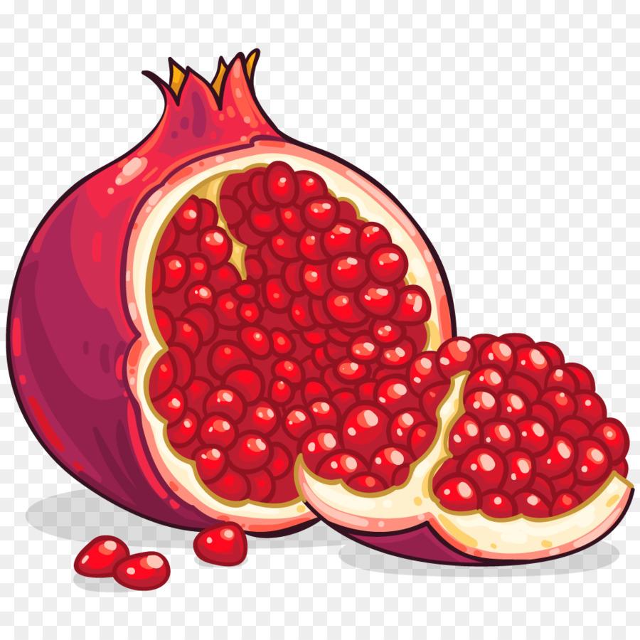 clipart transparent library Cartoon food plant transparent. Pomegranate clipart pomegranate fruit