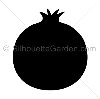 svg freeuse stock Pomegranate Clipart printable