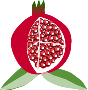 png transparent stock Fruit at clker com. Pomegranate vector clip art