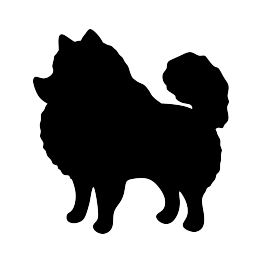 image freeuse download Silhouette grooming pinterest dog. Pomeranian vector