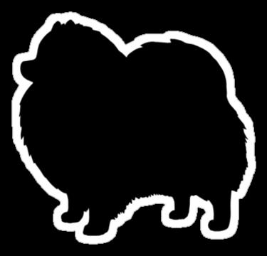 clip art freeuse library Black dog silhouette s. Pomeranian vector