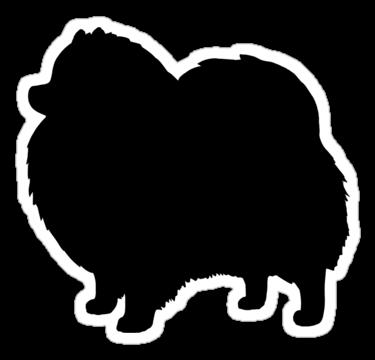 clipart download Black dog s sticker. Pomeranian vector silhouette