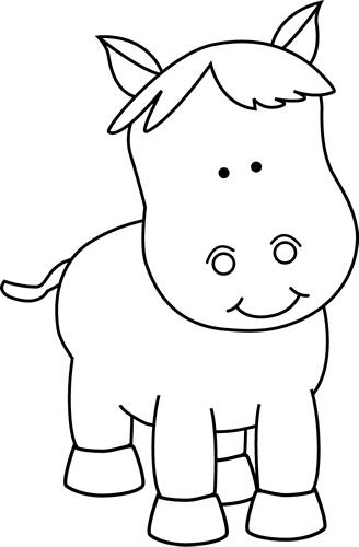 graphic freeuse Clip art image. Pony clipart black and white