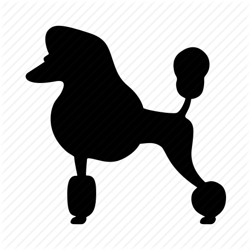 png black and white stock Poodle clipart black and white. Silhouette at getdrawings com.