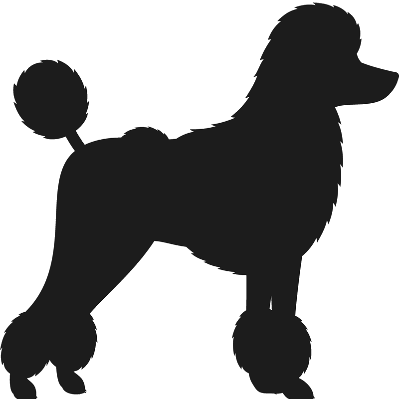 image transparent Poodle clipart black and white. Toy silhouette at getdrawings.
