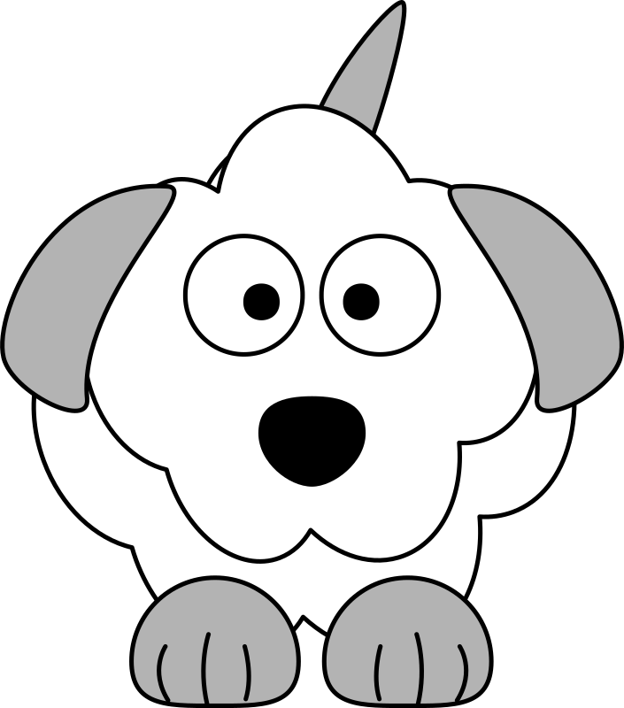 picture royalty free library Poodle clipart black and white. French cartoon dog medium.