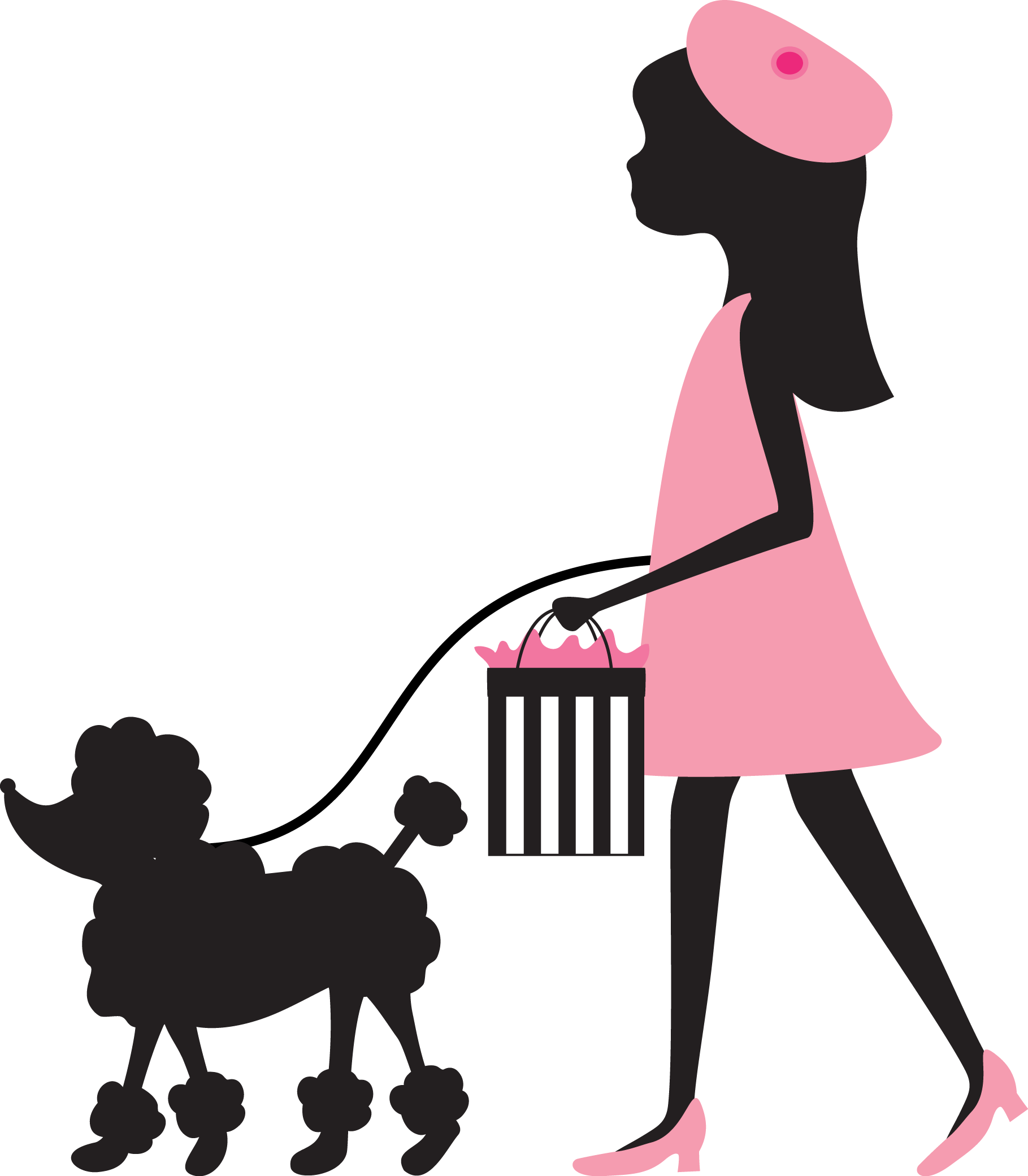 clip art royalty free Poodle silhouette clip art. Walk dog clipart