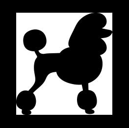freeuse download Pomeranian vector. Poodle silhouette clip art